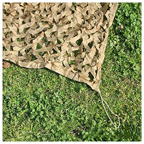 AnnWZW Camo Netting Brown Camouflage Net 5mx6m, Camouflage Net Reinforced Mesh Sunshade Net Sun Sunscreen Net, Suitable for Hiding Car Garden Decoration Fishing Tent,Multi-size Multi-function