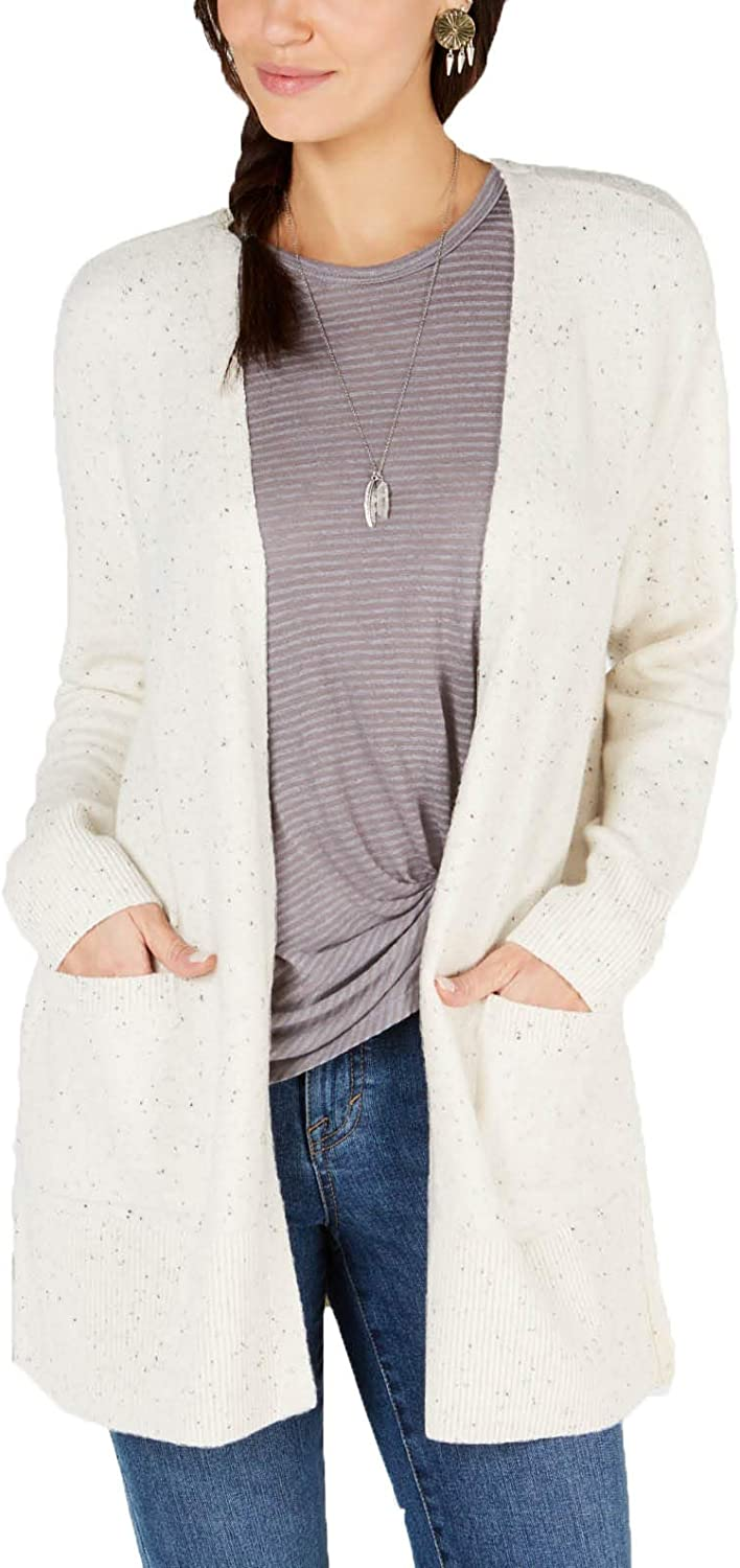 Style & Co. Open-Front Cardigan,XL White