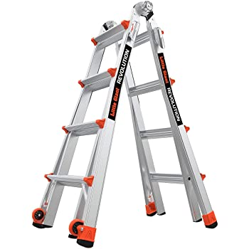 Little Giant Ladders, Revolution, M17, 5-14 foot, Multi-Position Ladder, Aluminum, Type 1A, 300 lbs weight rating (12017)