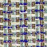 Tweed-Stoff, Grün/Blau