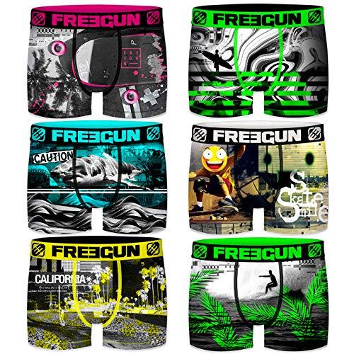 Freegun Boxershorts für Kinder, 6 Stück Gr. 6-8 Jahre, Emoji Smiley Pack