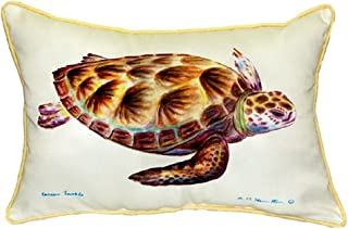 "Betsy Drake SN044 Green Sea Turtle Pillow, 11"" x14"""