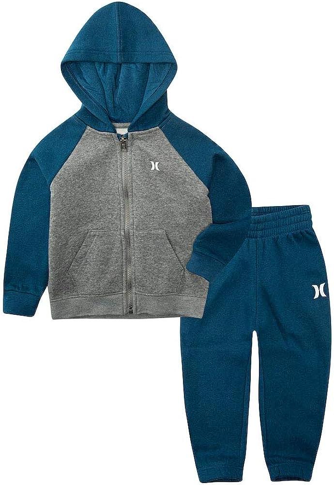 Hurley Boy`s Fleece Zip Raglan Jacket & Pants Set
