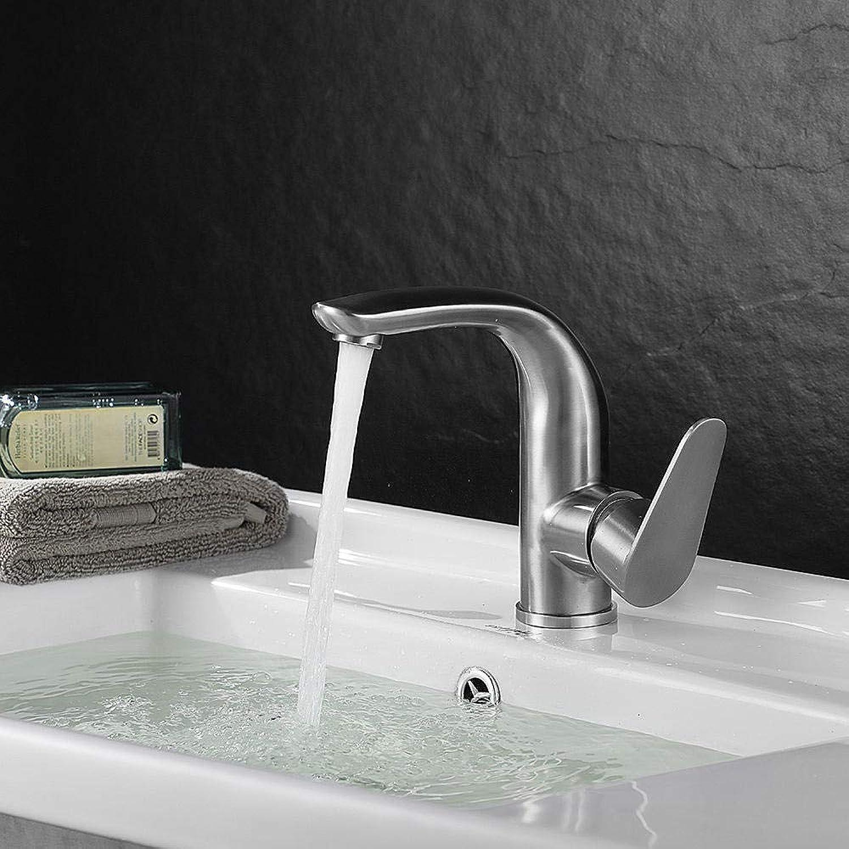 Edelstahl-Waschtischarmatur 304 Edelstahl-Waschtischarmatur Neue Frontplatte für Warm- und Kaltwasser