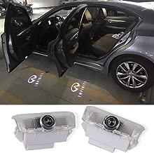 2Pcs LED Car Logo Lights Ghost Light Door Light Projector Welcome Accessories Emblem Lamp For Infiniti FX37 FX50 G37 G25 Q50 Q60 M25 M35 M37 EX25 EX35 EX37 QX50 QX56 QX70 QX80 FX G M EX Compatible