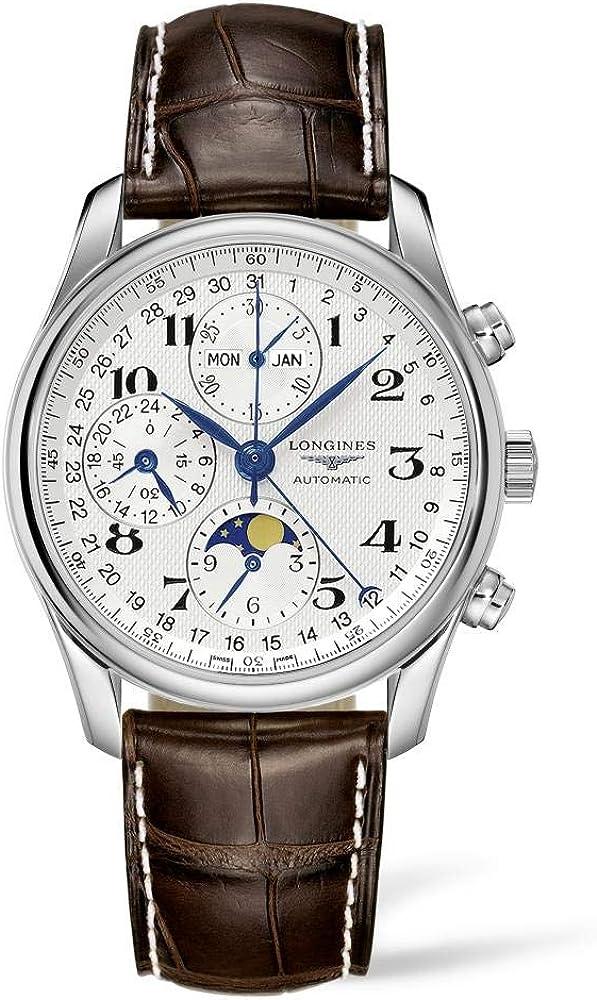 Longines orologio cronografo per uomo  con movimento meccanico a carica automatica
