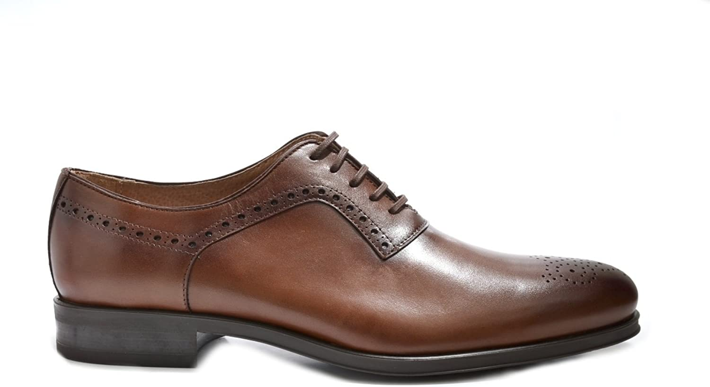 M äns VITELO Semi -Brogue Derby Lace Up Leather skor M 1