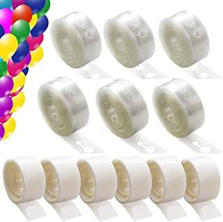 6 Rolls Balloon Arch Kit 96 Feet and 6 Rolls (600 Piece) Balloon Tape Adhesive Dots, Balloon Garland Kit Decorating Strip for Party Wedding