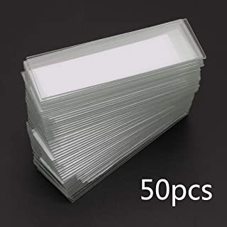 Ycncixwd 50Pcs 1mm Thickness Cavity Glass Coverslips Single Concave Microscope Glass Slides Reusable Laboratory Blank Sample Cover Glass