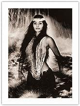 Pele's Sister - Namakaokahai, Hawaiian Sea Goddess - Vintage Sepia Toned Photograph by Alan Houghton c.1960s - 100% Pure Carbon Archival Inks - 290gsm Bamboo Paper Fine Art Print 18x24in
