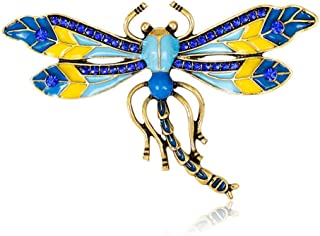 FHKVQOP Large Enamel Butterfly Brooches Corsage Brooch Crystal Wedding Insect Pins Brooches Jewelry Women Gift