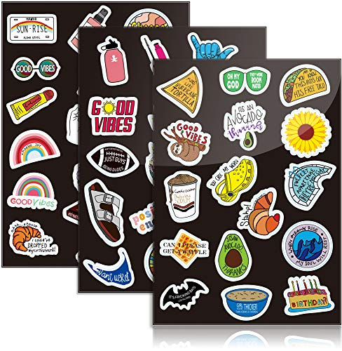 Assorted Indie Stickers for Laptop, Funny Decals Large Pack of 50 Waterproof Tumbler Stickers