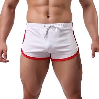 Xmiral Pantaloncini Sportivi Estivi da Uomo Pantaloni Piatti Casual ad Asciugatura Rapida Pizzo