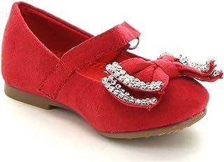 314bcfacfb3e JELLYBEANS Jelly Beans Yoyoma Toddlers Little Girls Glitter Bow Ballerina  Falt Shoes