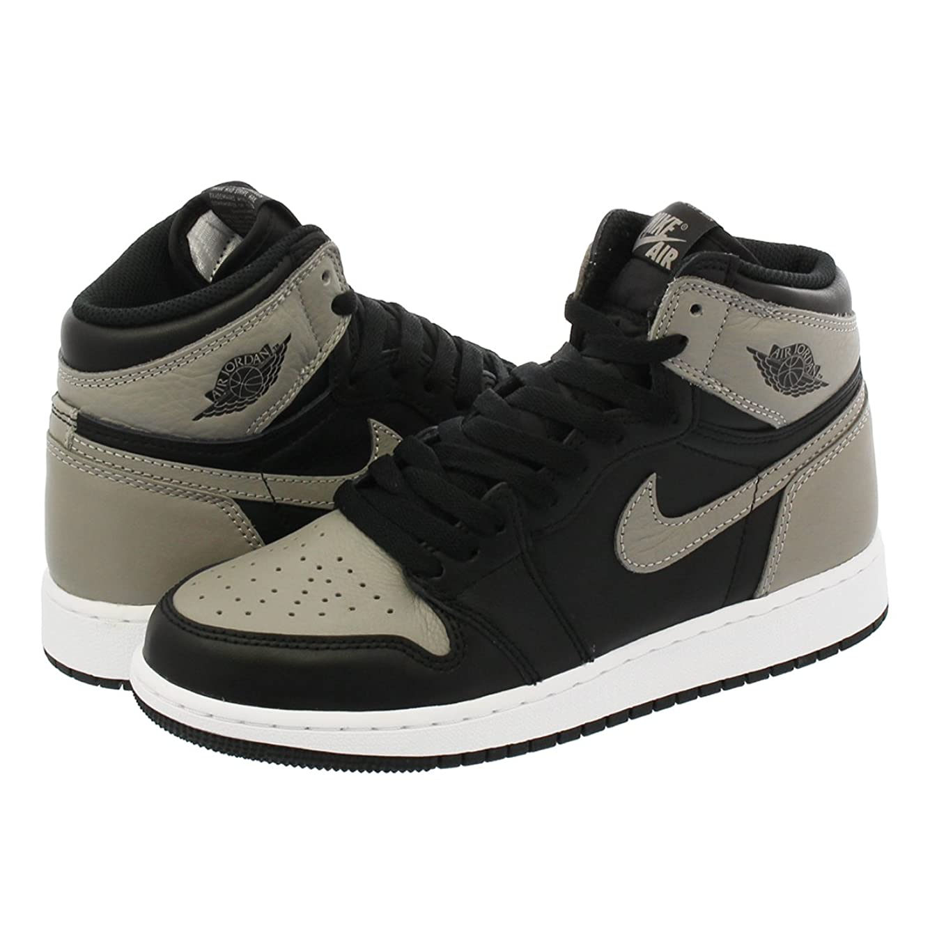 刺激する犯罪故障[ナイキ] AIR JORDAN 1 RETRO HIGH OG GS BLACK/MEDIUM GREY/WHITE 【SHADOW】 [並行輸入品]