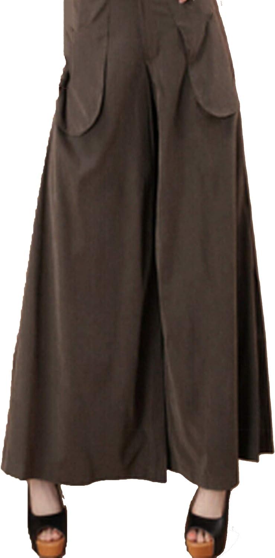 Women's Plus Size Trousers Slim Long Culottes Wide Leg Pants