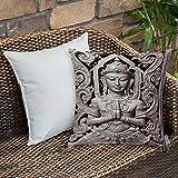Dekokissen Kissenhülle,Asiatisches Dekor, Antike Skulptur in traditioneller thailändischer Kunst...