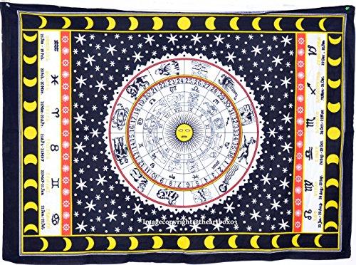 Die Kunst Box Horoskop schwarz & weiß Wandteppich für 76,2x 101,6cm, 100% Baumwolle