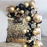 Beliueyes Golden Black Balloons Garland Arch Kit 121PCS Latex Balloon for Bridal...