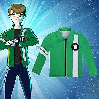 Ben 10 Chaqueta Aliens Force Boys Cosplay Benjamin Kirby Tennyson Ten Ben10: Carrera contra el tiempo Ropa Niños Disfraces de Halloween