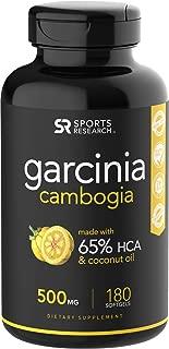 Pure Garcinia Cambogia Infused with Organic Coconut Oil - 180 Liquid Softgels