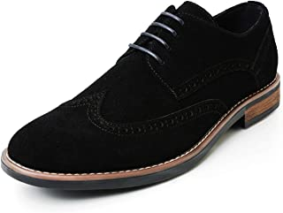 ZRIANG Men's Classic Suede Genuine Leather Oxford Business Casual Dress Shoes