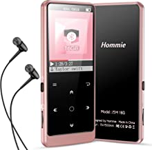 MP3 Player with Bluetooth 5.0, Hommie Touch Button 16GB HiFi Lossless Sound Music Player Support FM Radio, Video, Voice Re...