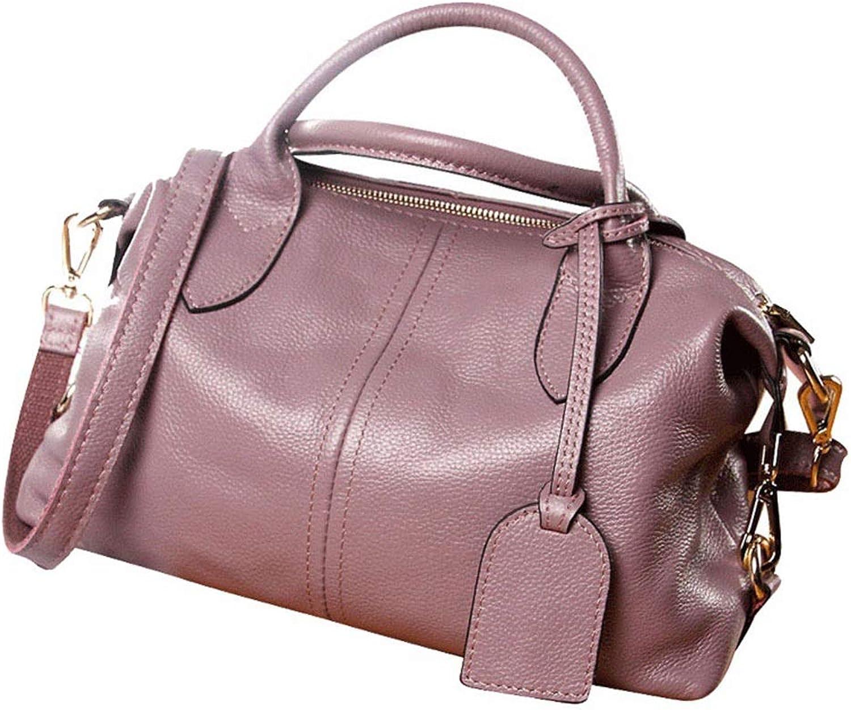 Xjrhb Lederhandtaschen Mode Boston Leder Handtasche Umhängetasche