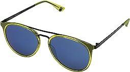 Green Apple Black/Gray w/ Light Blue Flash Mirror