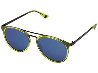 Spy Optic Toddy (Green Apple Black/Gray w/ Light Blue Flash Mirror) Fashion Sunglasses