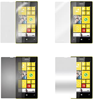 Cadorabo LK-CIAA-RW0J skärmskyddsfolie för Nokia Lumia 520 4 folie (1 x integritet 1 x spegel 1 x matt 1 x antifingeravtry...
