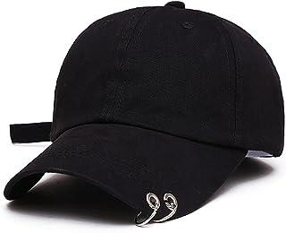 للجنسين رجالي إمرأة بلون قابل للتعديل قبعة بيسبول حلقات معدنية قبعة عادي