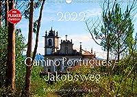 Camino Portugues - JakobswegAT-Version (Wandkalender 2022 DIN A3 quer): Pilgerweg entlang der portugisischen Kueste von Porto nach Santiago de Compostela (Geburtstagskalender, 14 Seiten )
