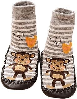 1 Pares Invierno Bebé Calcetines Algodón Calcetines de piso Antideslizante Para Bebé Niños Niñas 0-2 Años