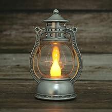 OSALADI Lanterna de Querosene Estimulação de Dia das Bruxas Portátil Luz Mão Decoração - Prata