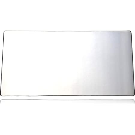 """Extended Plus Size Gaming Mouse Pad - Anti Slip Rubber Base - Stitched Edges - Large Desk Mat - 36"""" x 18"""" x 0.16"""" (Extended Plus, All White/No Logo)"""