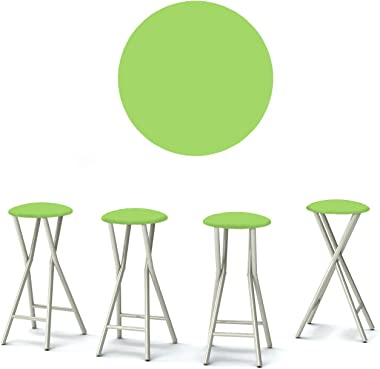 """Best of Times 13169W1331 Solid Lime 30"""" Padded Bar Stools-Set of (4), Pantone 368 Green"""