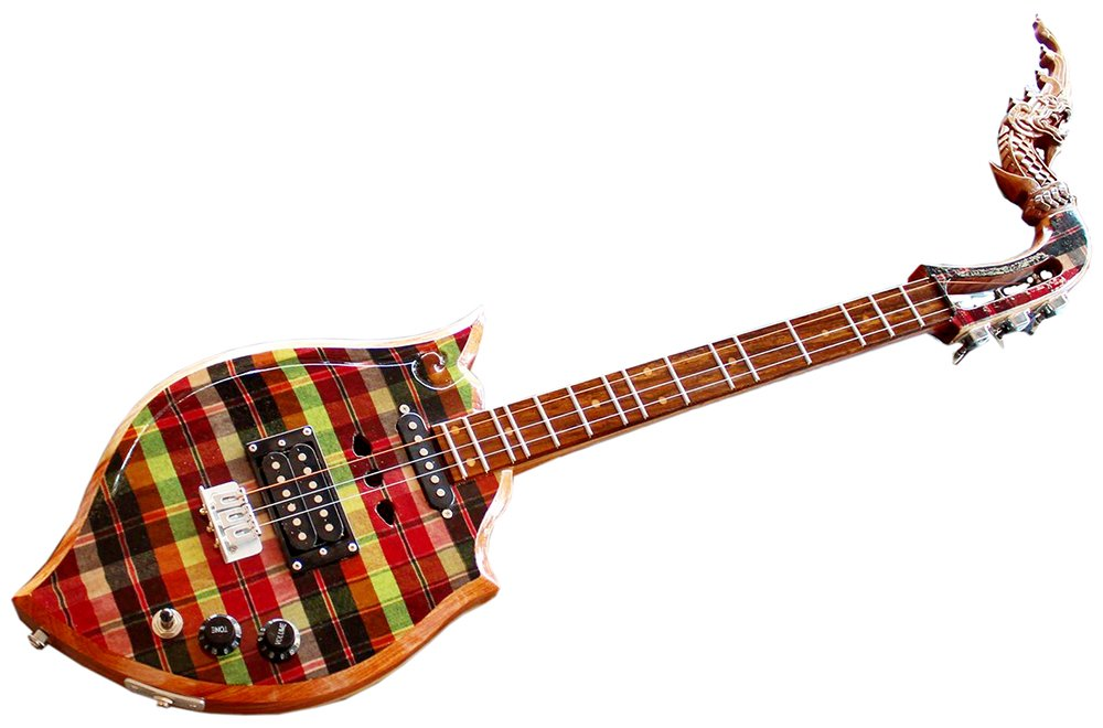 Isarn eléctrico Phin 3 cuerdas, Thai Lao guitarra instrumento musical, música tradicional tailandés pin57: Amazon.es: Instrumentos musicales