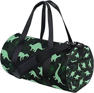 JSTEL Cute Kids Pattern Colorful Dinosaurs Abstract Sports Gym Bag for Women and Men Travel Duffel Bag
