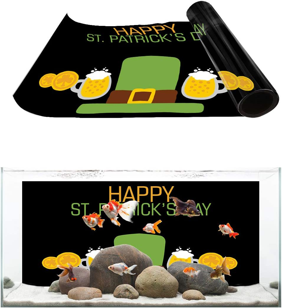TH XHome Aquarium Low price Décor Backgrounds St. Day Hat Patrick's Free shipping Happy