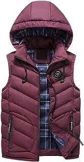 Mens Gilet Fashion Vest Down Jacket Hooded Coats Winter Outerwear Overcoats