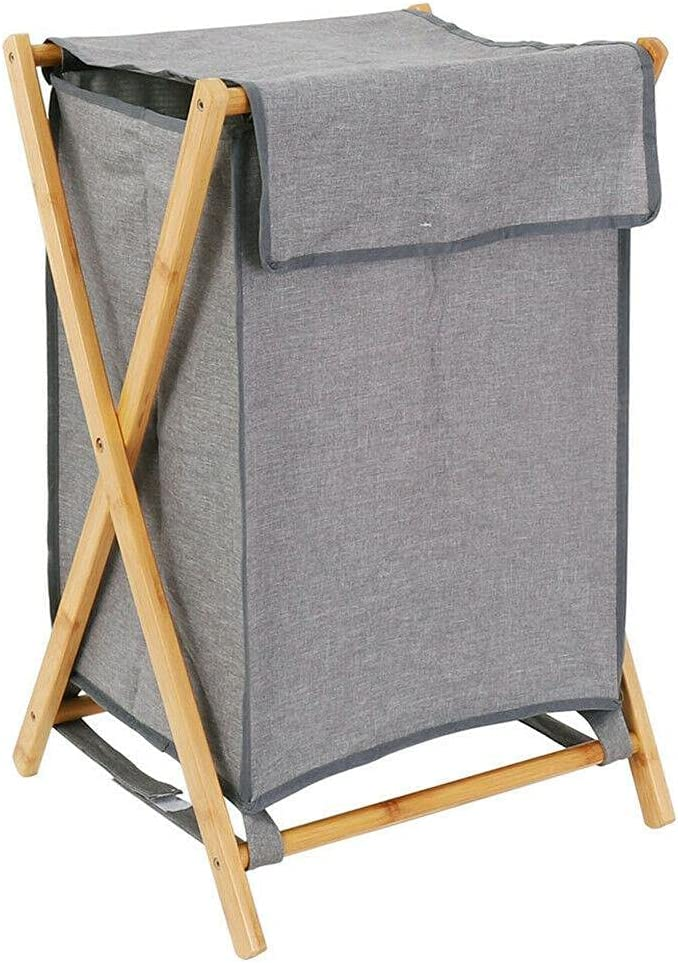 Collapsible Bamboo High quality new Laundry Hamper Basket All items in the store Lid Detachable with Clo