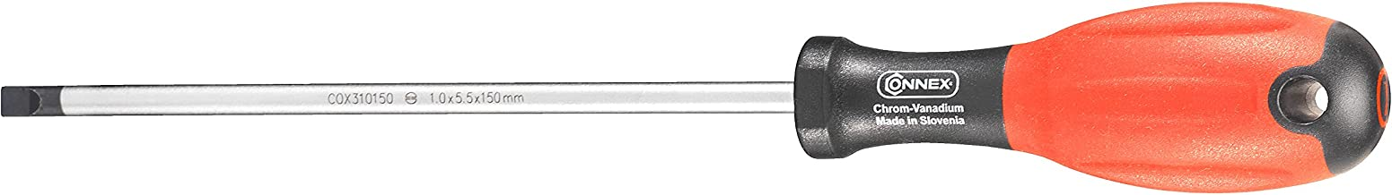 10 x 175 mm Silver//Beige Connex COX321100 Screwdriver with Wooden Handle