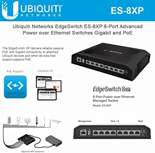 UBNT Systems EdgeSwitch XP ES-8XP 8-Port Advanced Power Over Ethernet Switches PoE Pro