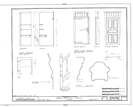 Historic Pictoric Blueprint Diagram HABS Mass,10-NANT,25- (Sheet 10 of 10) - Swain-Mitchell House, 1 Vestal Street, Nantucket, Nantucket County, MA 44in x 32in