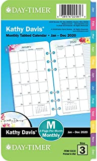 Kathy Davis for Day-Timer 2020 Monthly Planner Refill, 3-3/4