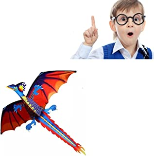 Yeefant Colorful 3D Dragon Kite One Of The Best Selling Toys, Sports Single Line Software Animal Kites Flying For Outdoor Games and Activities for Kids,Good Plan For Memorable Summer Fun
