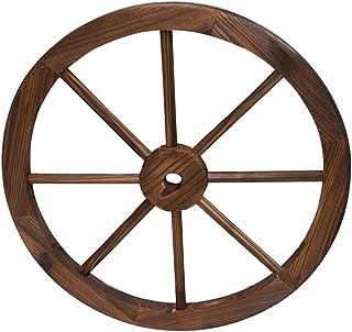 Rueda de Madera de Carro Estilo Vintage con un diámetro de 30 centímetros I Modelo: