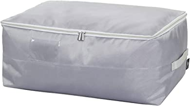 DOKEHOM Large Under Bed Storage Bag (5 Colors), Thick Ultra Size Fabric Clothes Bag, Moisture proof (Grey, L)