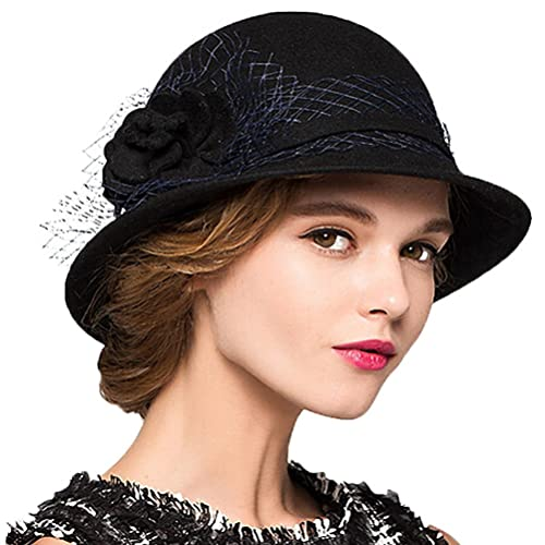 Maitose Trade  Women s Wool Felt Bowler Hat 0b4280473